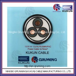 12/20kv Cu/XLPE/Swa/PVC (or PE) Power Cable