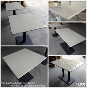 Custom Square Solid Surface Restaurant Dining Table (180223) pictures & photos
