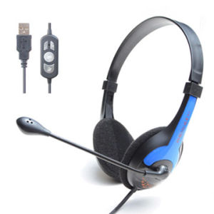 Computer Headset with 3.5mm Pug or USB Jack