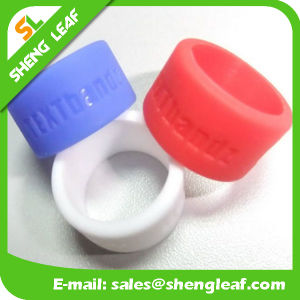 Personalized Fashion Advertising Colorful Silicone Finger Rings (SLF-SR015)