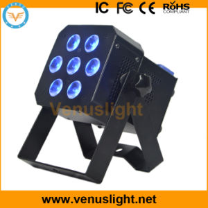 Mini LED Flat PAR Stage Light with 7X8w 4in1 LEDs
