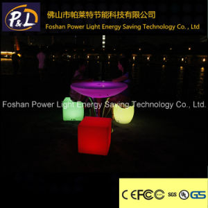 Lighted PE Table Garden LED Furniture pictures & photos