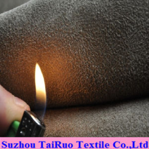 Microfiber Suede with Fireproofing for Upholstery Fabric pictures & photos