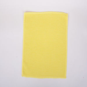 Yellow, Grid, Ultra-Fine Fiber Cleaning Cloth
