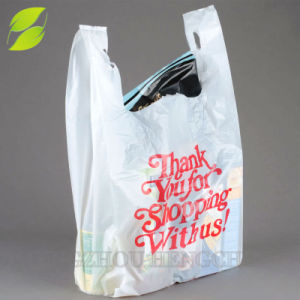 Made In China T Shirt Thank You Plastic Carry Out Bag
