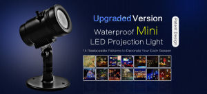 IP65 UL Ce LED 14 Film Slides Detachable Halloween Christmas Projector Light pictures & photos