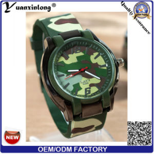 Yxl-182 Promotional Fashion Military Men Women Watch Silicone Casual Quartz Wrist Watch Custom Logo Sport Army Unisex Watches Factory pictures & photos