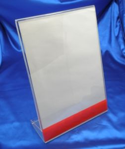 Customized Clear Acrylic Sign Holder Menu Holder pictures & photos