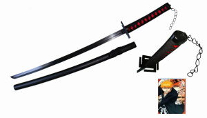 Anime Bleach Zangetsu Cosplay Sword/Display Sword