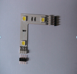 L T + Shape 8mm/10mm/12mm 2pin 3pin 4pin 5pin 2835 5050 RGB LED Strip Corner Connectors pictures & photos