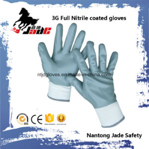 13G Full Gary Nitrile Smooth Coated Glove pictures & photos