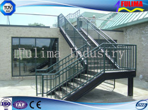 Prefab Stainless Steel Staircase/Stairs for Building pictures & photos