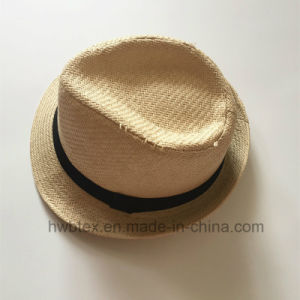 BSCI Audit Promotion Paper Straw Panama Hat (HW02) pictures & photos