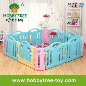 2017 Colorful Plastic Indoor Playpen for Toddler with Ce (HBS17046A)
