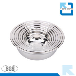Multi-Size Stainless Steel Thickened Soup Plate & Soup Bowl pictures & photos