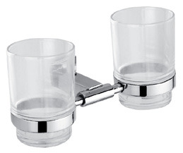 Stainless Steel Double Tumbler Holder Bathroom Accessory