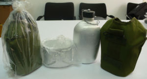 Stock Cheap Aluminium Military Water Bottle with Mess Tin and Camouflage Fabric Cover pictures & photos