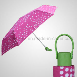3 Section Mini Folding Umbrella Super Light Rain/Sun Umbrella (JF-MCR301)