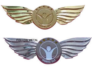 Wing Logo Badge with Stone