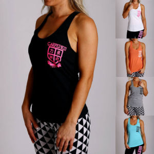 Women Y Back Tank Top, Polyester Elastane Gym Singlet (A846)