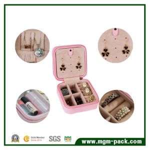 Fashion Handmade PU Leather Wrapped Cardboard Jewelry Box for Girls pictures & photos
