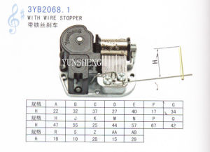 18-Note Standard Musical Movement with Wire Stopper (3YB2068.1) pictures & photos