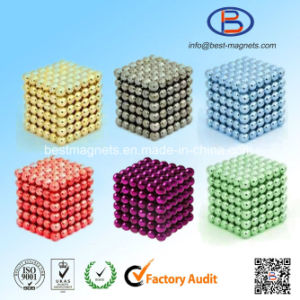 Multicolors Painting Ball Shape NdFeB Strong Power Magnets