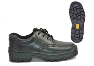 Safety Shoes Rubber Outsole Glazed Buffalo Leather 9878 Low Cut