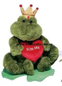 Valentine Green Frog Crown Toys (LE-VT100801)