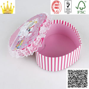 Heart Shap Rigid Box/Paper Gift Box/Ridid Round Paper Box (MX037) pictures & photos