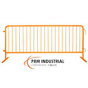 8′ Crowdmaster Barricade Safety Orange Steel Barricade, Flat Feet pictures & photos