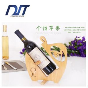 Eco Friendly Creative Style Single Bottle Bamboo Wine Rack