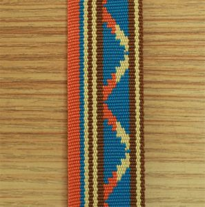 Factory High Quality Polyester Jacquard Webbing#1412-04 pictures & photos