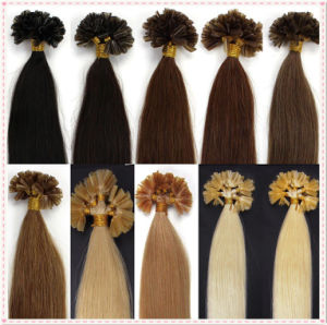 Indian Remy Nail U Tip Human Hair Extensions pictures & photos