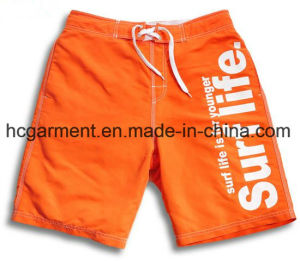 4 Way Fabric Board Shorts, Solid Colros Printed Design Beach Shorts for Man