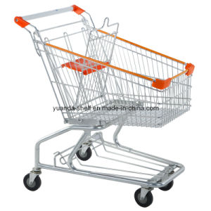 American Style Used Hand Push Trolley for Supermarket Shopping (YD-C) pictures & photos