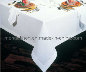 White Linen Table Cloth with Hemstitch (TC-011)