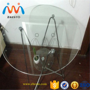 10mm Tempered Table Top Glass with Round Corners, Polished Edge