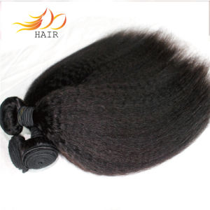 100% Unprocessed Kinky Straight Brazilian Virgin Remy Hair Weave
