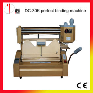 DC-30k Desktop Glue Binding Machine, Glue Binder, Book Binding Machine, Binder