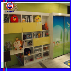 Children Sliding Door Wardrobe with Desk (ZH082) pictures & photos