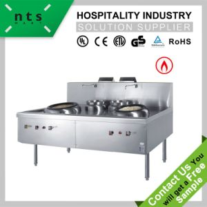 2 Wok Chinese Cooking Gas Range with Blower pictures & photos
