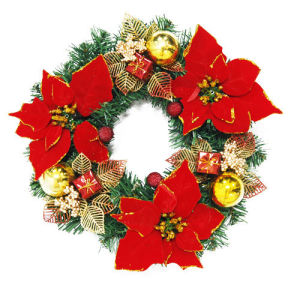 China Christmas Wreath Garland Wholesale Artificial Christmas