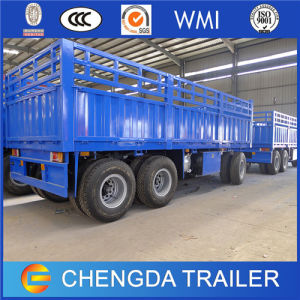 3 Axles Turntable Full Trailer with High Fence for Ethiopia pictures & photos