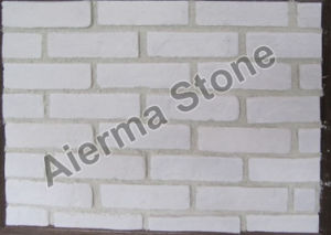 Off White Brick Thin Veneer For Interior Wall And Exterior Cover ABC 00