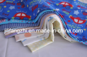 100% Cotton CVC Pigment Reactive Printed Dye White Flannel