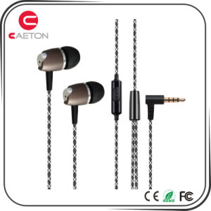 Mobile Phone Stereo Metal Earphone with Mic