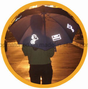Promotional Reflective Straight Golf Umbrella pictures & photos