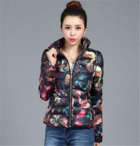 Women Winter Slim Down Cotton Parka Coat pictures & photos