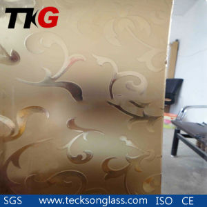 4-12mm Bronze Acid Etched Glass with Designs pictures & photos